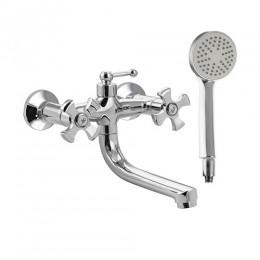 BIANCO - Смеситель в ванную короткий излив , с верхним переключением на душ 4220