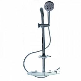 BRIMIX - Стойка душевая с стеклянной полкой с массажной лейкой и мыльницей , высота - 730 мм 3710