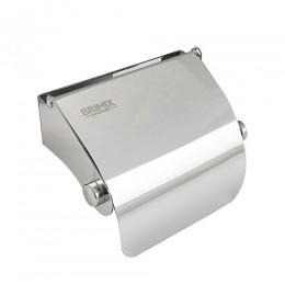 BRIMIX - Держатель туалетной бумаги с экраном 120х100х60 мм из нержавеющей стали 304 , хром 79907
