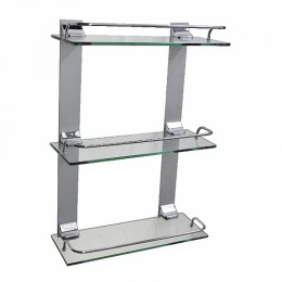 BRIMIX - Полка стеклянная настенная 3-х этажная 10203
