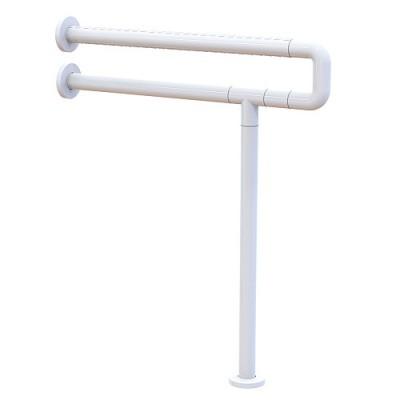 BRIMIX - Поручень для инвалидов к унитазу с опорой в пол, БЕЛЫЙ d - 32 мм 941