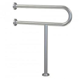 BRIMIX - Поручень для инвалидов к унитазу с опорой в пол из нержавеющей стали, хромированный d - 32 мм 948