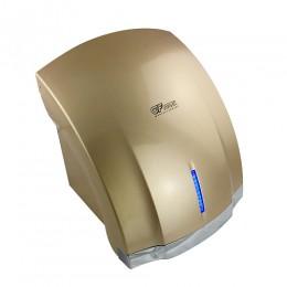 GFmark - Сушилка для рук , корпус пластик АБС цвет сатин золото + хром ,с неоновой подсветкой , КЛАССИКА 1800W 6880
