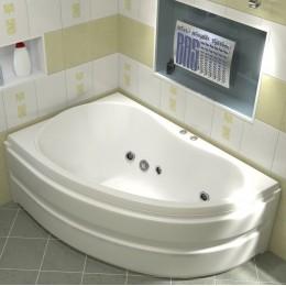 Акриловая ванна BAS Алегра 150x90 гидромассажная Левая, с каркасом