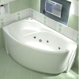Акриловая ванна BAS Флорида 160x90  гидромассажная Левая, с каркасом