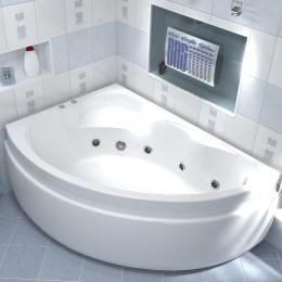 Акриловая ванна BAS Лагуна 170x110 гидромассажная Левая, с каркасом