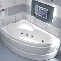 Акриловая ванна BAS Сагра 160x100 гидромассажная Левая, с каркасом