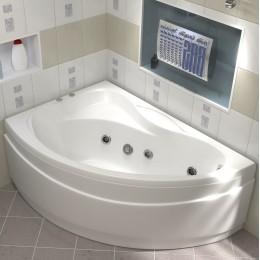 Акриловая ванна BAS Вектра 150x90 гидромассажная Левая, с каркасом