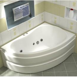 Акриловая ванна BAS Алегра 150x90 гидромассажная Правая, с каркасом