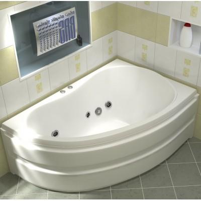 Купить Акриловая ванна BAS Алегра 150x90 гидромассажная Правая, с каркасом