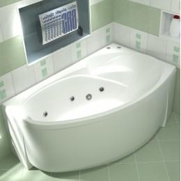 Акриловая ванна BAS Фэнтази 1500х900 гидромассажная правая, с каркасом