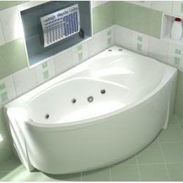 Акриловая ванна BAS Флорида 160x90  гидромассажная Правая, с каркасом
