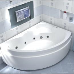Акриловая ванна BAS Лагуна 170x110 гидромассажная Правая, с каркасом