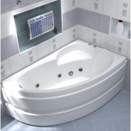 Акриловая ванна BAS Сагра 160x100 гидромассажная Правая, с каркасом