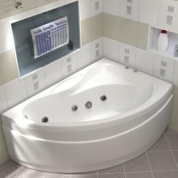 Акриловая ванна BAS Вектра 150x90 гидромассажная Правая, с каркасом