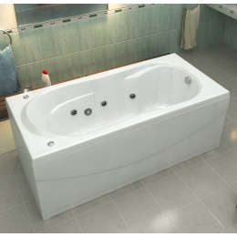 Акриловая ванна BAS Ахин 170x80 гидромассажная, с каркасом