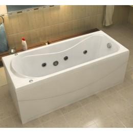 Акриловая ванна BAS Атланта 170х70 гидромассажная, с каркасом