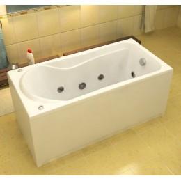Акриловая ванна BAS Бриз 150x75 гидромассажная, с каркасом