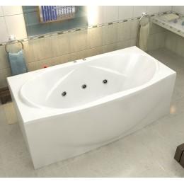 Акриловая ванна BAS Фиеста 194x90 гидромассажная, с каркасом