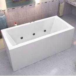 Акриловая ванна BAS Индика 170x80 гидромассажная, с каркасом