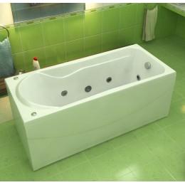 Акриловая ванна BAS Мальта 170x75 гидромассажная, с каркасом