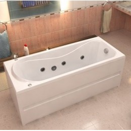 Акриловая ванна BAS Стайл 160х70 гидромассажная, с каркасом