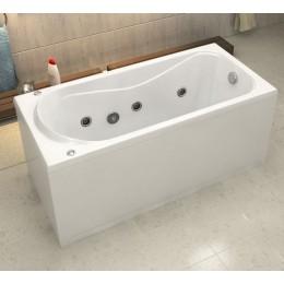 Акриловая ванна BAS Верона 150х70 гидромассажная, с каркасом