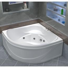 Акриловая ванна BAS Хатива 143x143 гидромассажная, с каркасом