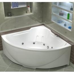 Акриловая ванна BAS Ирис 150x150 гидромассажная, с каркасом