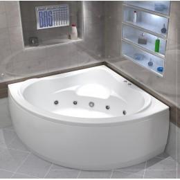Акриловая ванна BAS Мега 1600х1600 гидромассажная 1500вт, с каркасом