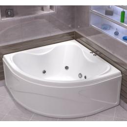 Акриловая ванна BAS Риола 135x135 гидромассажная 6 форсунок 900Вт., с каркасом