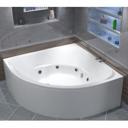Акриловая ванна BAS Ривьера 161x161 гидромассажная, с каркасом