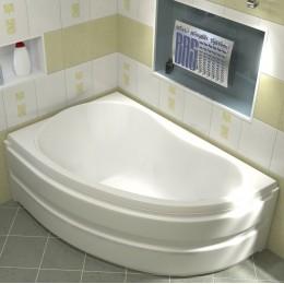 Акриловая ванна BAS Алегра 150x90 без гидромассажа Левая, с каркасом