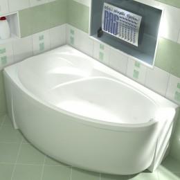 Акриловая ванна BAS Фэнтази 1500х900 без гидромассажа левая, с каркасом