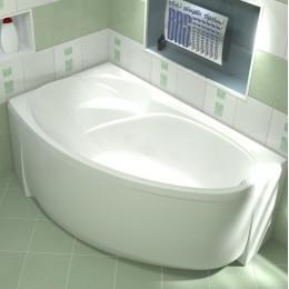 Акриловая ванна BAS Флорида 160x90  без гидромассажа Левая, с каркасом