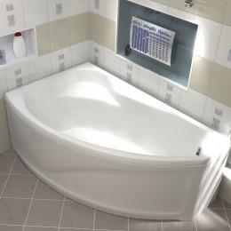 Акриловая ванна BAS Николь без гидромассажа Левая, с каркасом