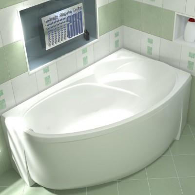 Ванна акриловая BAS Фэнтази 1500х900 без гидромассажа правая, с каркасом