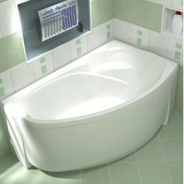 Акриловая ванна BAS Флорида 160x90 без гидромассажа Правая, с каркасом