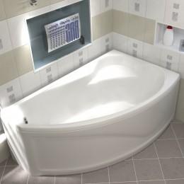 Акриловая ванна BAS Николь без гидромассажа Правая, с каркасом