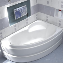 Акриловая ванна BAS Сагра 160x100 без гидромассажа Правая, с каркасом