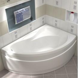 Акриловая ванна BAS Вектра 150x90 без гидромассажа Правая, с каркасом