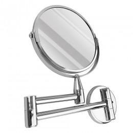 САНАКС - Зеркало косметическое настенное раздвижное , на коленце нержавейка хромированная 75270