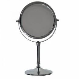 САНАКС - Зеркало косметическое настольное нержавейка хромированная Д17см 050134