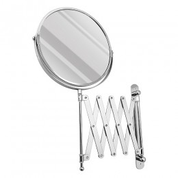 САНАКС - Зеркало косметическое настенное большое , раздвижное , гармошка нержавейка хромированная 75269-1