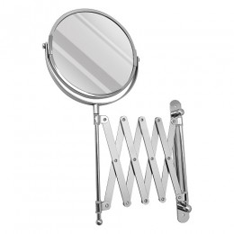 САНАКС - Зеркало косметическое настенное раздвижное , гармошка нержавейка хромированная 75269