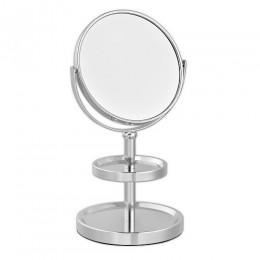 САНАКС - Зеркало косметическое настольное с полочками для украшений , нержавейка хромированная 051101