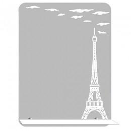 САНАКС - Зеркало с матированным рисунком - ПАРИЖ 500х700 мм, полка 500мм 40509