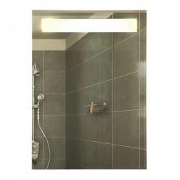 САНАКС - Зеркало с внутренней подсветкой 575х740х33 мм с пескоструйной полосой ( светодиодная подсветка ) 45402