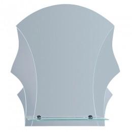 САНАКС - Зеркало комбинированное с зеркальными вставками 500х600 мм, полка 500мм 40220