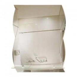САНАКС - Зеркало комбинированное с зеркальными вставками 510х640 мм, полка 500мм 45550